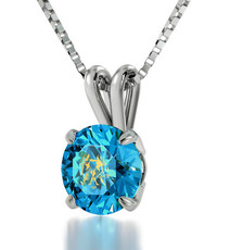 Nano Jewelry Teal Silver Gemini Necklace