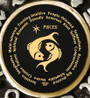 Inspirational Jewelry Pisces Zodiac Wheel Black Necklace