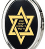 Black Silver Oval Star of David necklace from Inspirational Jewelry