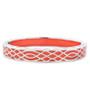 Andrew Hamilton Crawford Orange Bracelet Infinity Coral and Silver