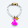 Kabbalah Protection with Pink Tassel From 7Stitches