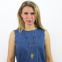 Gold Michal Golan Jewelry Southwest Style Necklace