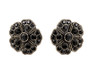 Michal Negrin Black Round Flower Earrings - Multi Color
