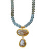 Nature Love Aqua and Ruthilated Quartz Necklace by Nava Zahavi