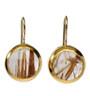 Golden Stripes Ruthilated Quartz Earrings - New Arrival