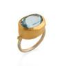 Express Yourself Blue Topaz Gold Ring by Nava Zahavi - New Arrival