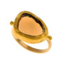 Golden Eye Citrine Ring by Nava Zahavi - New Arrival