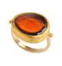 Firestone Hessonite Gold Ring by Nava ZahavI - New Arrival