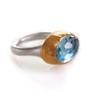 Peaceful Sky Blue Topaz Ring by Nava Zahavi - New Arrival