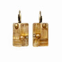 Michal Golan Citrine Rectangle Lever Back Earrings