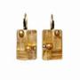 Michal Golan Citrine Rectangle Lever Back Earrings