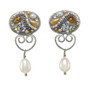 Michal Golan Moonlight Oval Dangling Earrings