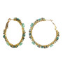 Michal Golan Lush Forest Hoop Earrings