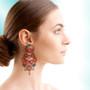 Ayala Bar Crimson Dreams Hibiscus Earrings
