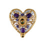 Michal Golan Amethyst Heart Pin