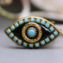 Michal Golan Black and Blue Evil Eye Ring