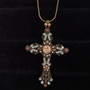 Michal Negrin Crystals Faith Angel Delicate Cross Necklace