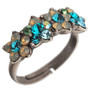 Michal Negrin Flowers Adjustable Ring