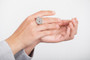 Joidart Terrazzo Ring Grey Silver Size 7