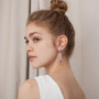 Joidart Anais Long Red Silver Earrings