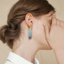 Joidart Expressionista Large Earrings With Blue