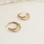 Joidart Luna Small Hoop Gold Earrings