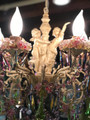 Michal Negrin Angels 10 Candle Style Light Swarovski Crystals Pink And Green Chandlers