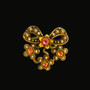 Michal Negrin Swarovski Crystal Bedazzled Bow Pearl Ring