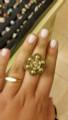 Michal Negrin Swarovski Crystals Daisy Flower Adjustable Ring