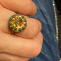Michal Negrin Gold Crown Swarovski Crystal adjustable Ring