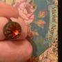 Michal Negrin Orange Crown Swarovski Crystal adjustable Ring