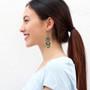 Ayala Bar Green Moonlight French Wire Earrings