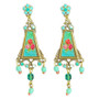 Michal Negrin Roses Picture Earrings