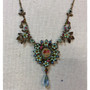 Michal Negrin Jewelry Pink Victorian Roses Sun Necklace
