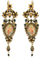 Michal Negrin Antique Look Must have Hook Earrings