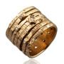 Seven Blessings Kabbalah Ring W/ Gold And Diamonds