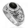 Kabbalah Ben Porat Yosef Ring With An Onyx Inlay