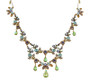 Michal Negrin Jewelry Crystal Flower Necklace - 100-108390-016 - Multi Color