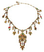 Michal Negrin Classic Camo Crystal Flowers Necklace