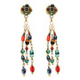 Michal Golan Earrings - Durango Triple Chains Dangle