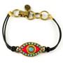 Evil Eye Bracelet - Michal Golan Bracelet - Pink, Medium Eye With Blue Bead Center & Edges