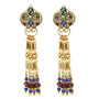 Michal Golan Earrings - Florence Crown With Tassels