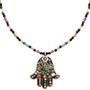 Hamsa Necklace - Large Black Multi Hamsa From Michal Golan