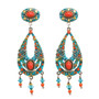 Michal Golan 2 Part Oval Earrings