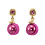 Pink Anat Jewelry Pearl Nouveau Glam Earrings