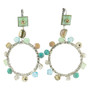 Anat Collection Turquoise Hoop Paris Chic Earrings
