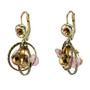 Encompass Brown and Pink  earrings from Anat Jewelry