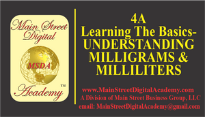 4A-Learning The Basics-UNDERSTANDING MILLIGRAMS & MILLILITERS - $150.90 Value!