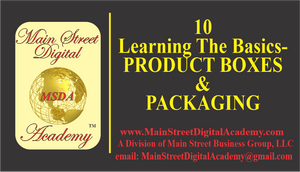 10-Learning The Basics -Product Boxes & Packaging - $59.95 Value!