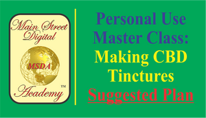 MASTER CLASS - SUGGESTED LEVEL - Making Your Own CBD Tinctures